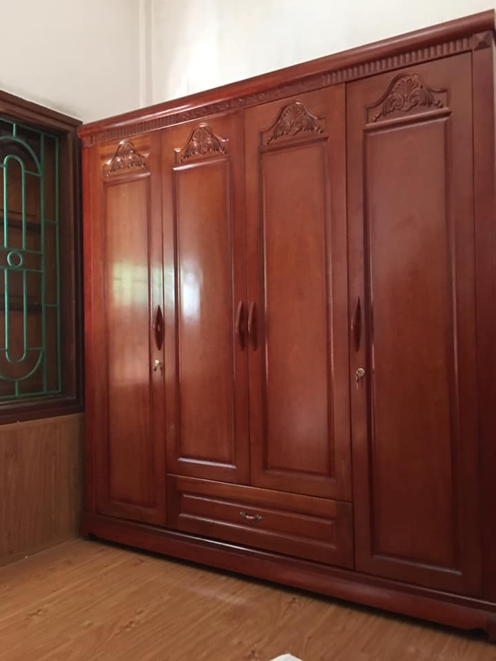 Tủ quần áo 4 buồng xoan đào - đồ cũ hoàng quỳnh - 0913040613 - docuhaiphong.vn